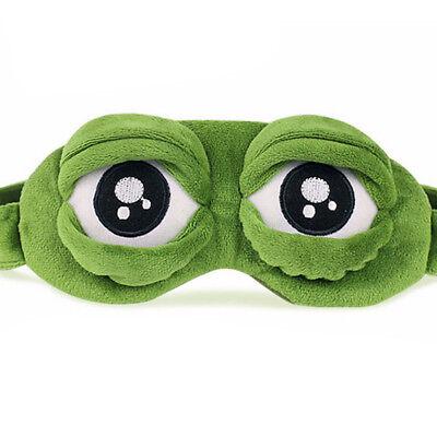 Pepe The Frog Sad Frog 3D Eye Mask Cover Sleeping Rest Sleep Anime Funny Gi*sh