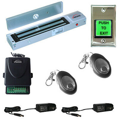 Visionis Door Buzzing System 600lbs Magnetic Lock Wireless Kit with Multi-Entry