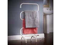 VonHaus Electric Towel Rail / Warmer / Radiator - Wall Mount & Free Stand Included (White)