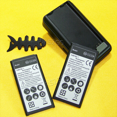 2x 5400mah Battery+home Charger For Straight Talk Samsung...