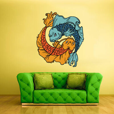 Full Color Wall Decal Sticker Fire and Water Symbol Fish Chineese - Chineese Symbols