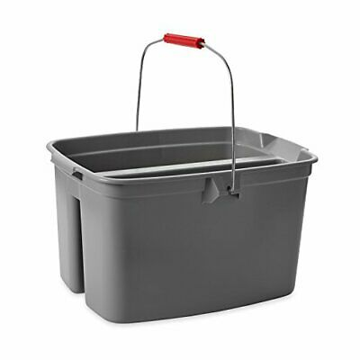 Rubbermaid Commercial Products-FG262888GRAY  Double Pail Plastic Bucket for C...