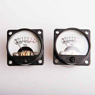 2x 500a Panel Vu Meter Test Wwarm Back Light Recordingaudio Level Amp 630 Ohm
