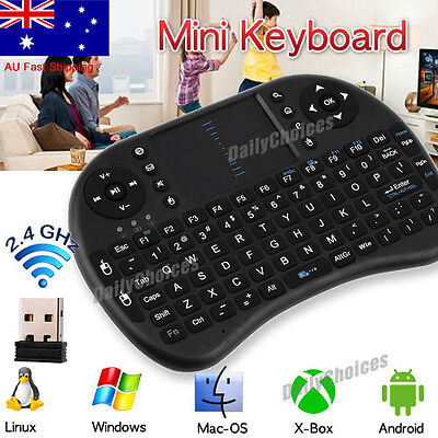 Mini Wireless 2.4Ghz Keyboard Mouse Remote for Raspberry Pi PC | Android
