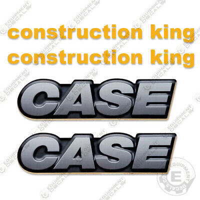 Case Skid Steer Loader Equipment Decals - 2 Rear Logos 2 Construction King
