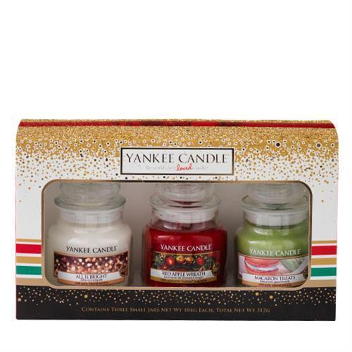 Yankee Candle Gift Set Holiday Party 3 Small Jar