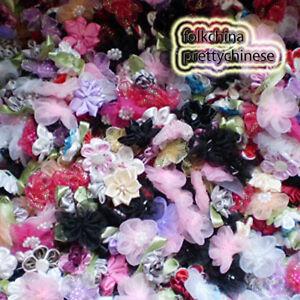 100pcs-Assorted-Floral-Appliques-Scrapbooking-JM000