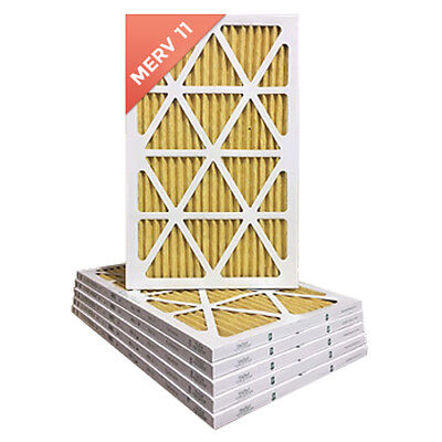 12x24x1 Merv 11 Pleated Ac Furnace Air Filters. 6 Pack