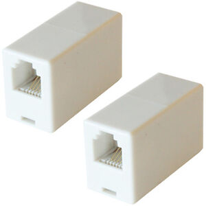 RJ11 Female to Socket Coupler/Joiner Adapter - Phone/Broadband Router Extension