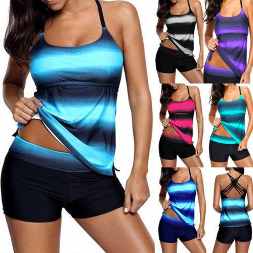 Badeanzug Push Up Bikini Tankini mit Badehose Gr. 34 36 38 40 42 44 46 48 50 52
