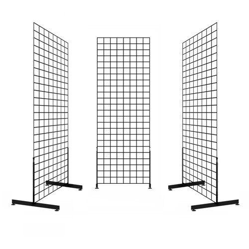 Display Grid Rack 6 ft Panel Metal Stand Retail Store Craft Art Shelf Organizer