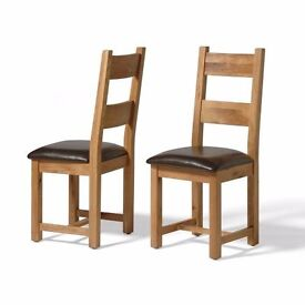 2 x Chairs - Solid Oak from Vancouver Premium Collection.