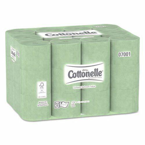 Kleenex Cottonelle Coreless Standard 2-Ply Toilet Paper, 36 Rolls (KCC 07001)