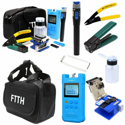 FTTH Fiber Optic Tool Kit Power Meter Visual Fault Locator FC-6S Fiber Cleaver