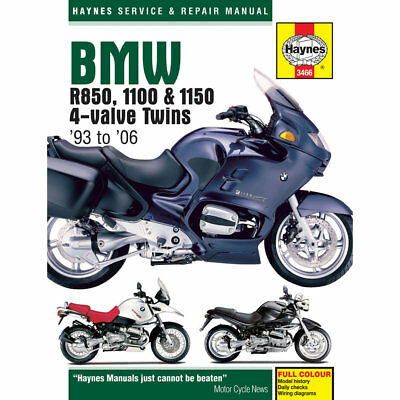 BMW R850 R1100 R1150 4-Value Twins 1993-2006 Haynes Workshop Manual