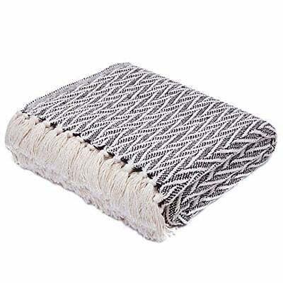 Throw Blanket Cotton Soft Fleece Couch Sofa Bed 50×60 Many Colors Afghans & Throw Blankets
