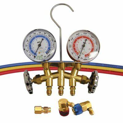 Mastercool 66773 Dual R-12r-134a Brass Manifold Gauge Set