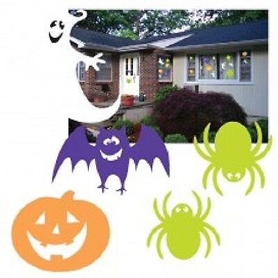 Riesen DEKO SET Halloween 30 Teile Fenster Gespenst Fledermaus Spinne Kürbis