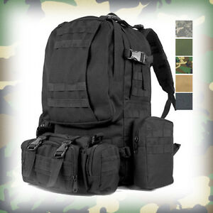MILITARY-Style-LARGE-MOLLE-3-DAY-ASSAULT-TACTICAL-BACKPACK-RUCKSACK-BAG-Black