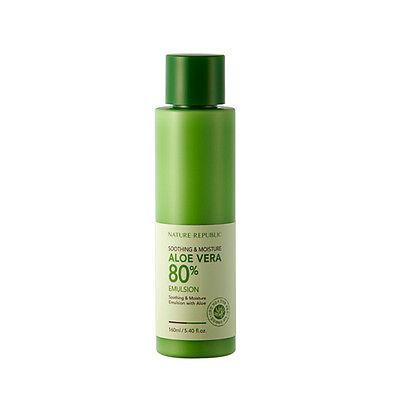 NATURE REPUBLIC Soothing & Moisture ALOE VERA 80% Emulsion - 160ml