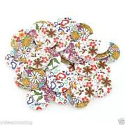 Wood Buttons 30mm