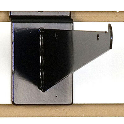 Slatwall Shelf Bracket 8 Inch In Black Finish - Lot Of 8