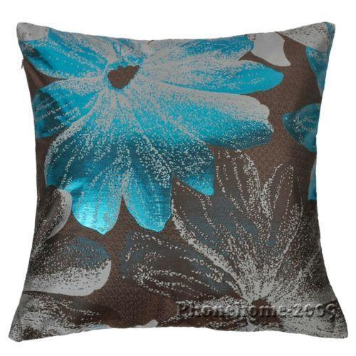 Blue Throw Pillow Covers Ebay