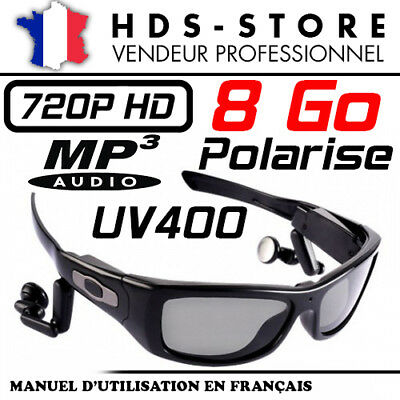 Gafas De Sol Polarizados UV400 SUNG3 Cámara Sport Espía MP3 HD 720P...