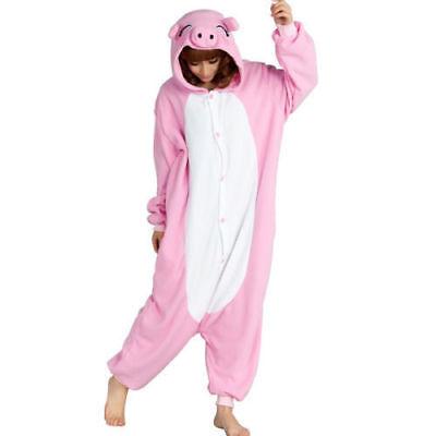 Halloween Pink Pig Onesiee Kigurumi Fancy Dress Costume Pyjamas Sleep wear suit (Pig Wearing Halloween Costume)