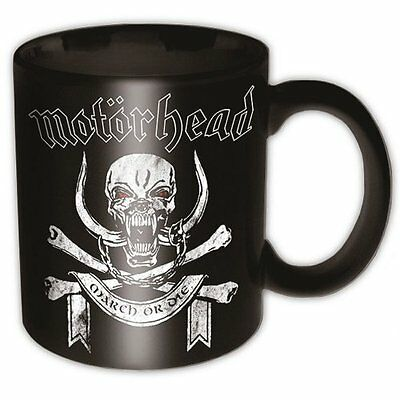Lemmy Motorhead March Or Die Black Band Logo Coffee Gift Mug Cup Skull Official