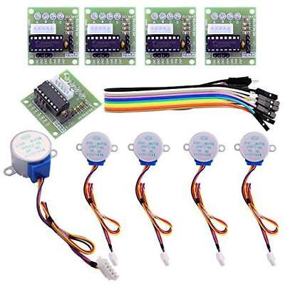 5pcs Sets 28byj-48 Uln2003 5v Stepper Motor Uln2003 Driver Board For Arduino