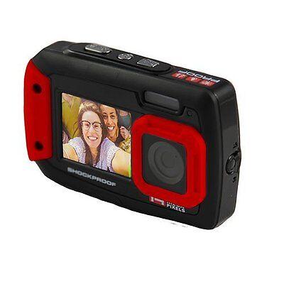 Ion Cool iCam - Waterproof Dual-Screen Selfie Camera  Black/Red, 1042