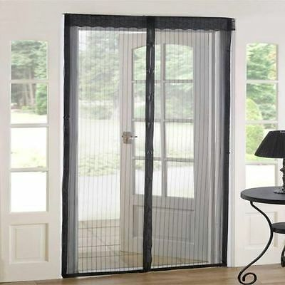 Hands-Free Screen Curtain Door With Magnets For Dog Cat Stop Bug Mosquito Fly ()