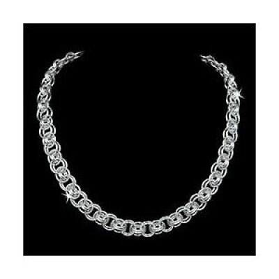 CHAIN MAILLE/MAIL HELMS SILVER NECKLACE KIT-Jump Ring Jewelry Making Craft
