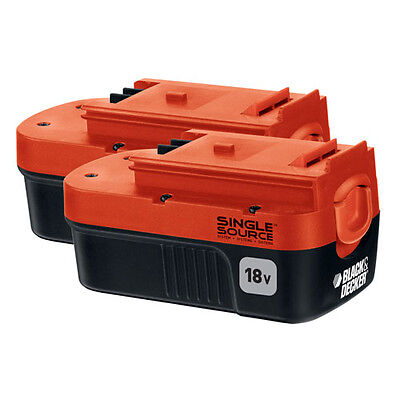 BLACK+DECKER 18V NiCd Battery for Outdoor Power Tools (2-Pack) - HPB18-OPE2