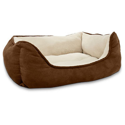 Plush & Cozy Bolster Pet Nesting Bed for Cats & Dogs 24x18