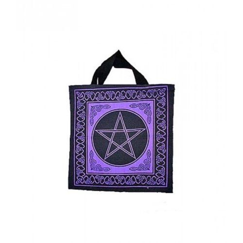 Black and Purple Celtic knots PENTACLE Pentagram TOTE Wicca BAG FREE SHIPPING
