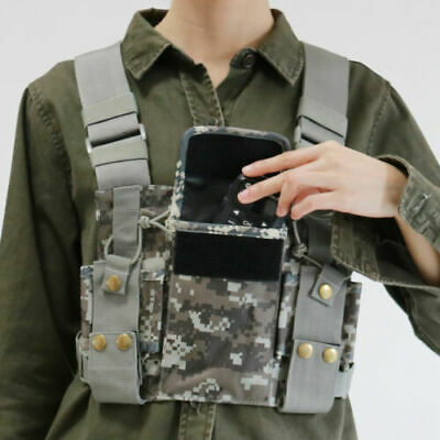 Radio Chest Harness Front Pack Pouch Holster For Radio