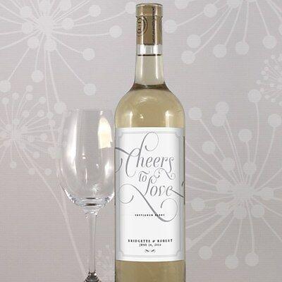 24 Expressions Personalized Wedding Wine Bottle - Wedding Wine Bottle Labels