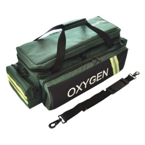 LINE2design Deluxe Oxygen Bag EMS Impervious Standard Reflective Trim Bag Green