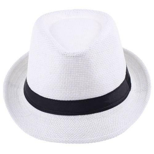 white fedora clothing shoes accessories ebay. Black Bedroom Furniture Sets. Home Design Ideas