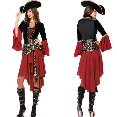 Women Role Play Bar Carnival Fantasias Movie Fancy Dress Adult Pirate Costume - Adult Pirate Movie