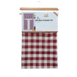 gingham curtains ebay