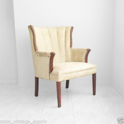 Famechon Sofa With Channeled Back And Seat Walnut Legs: Channel Back Chair