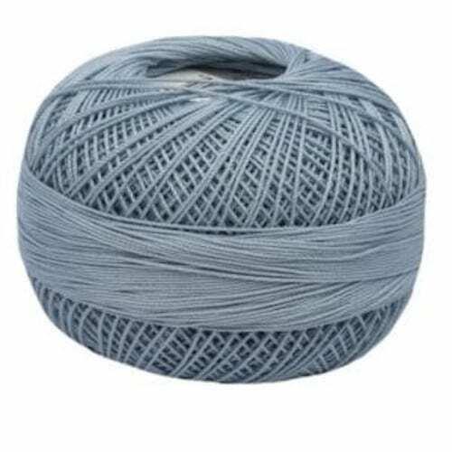 Lizbeth Egyptian Cotton Crochet Thread Size 10 Color 650 Light Denim Blue