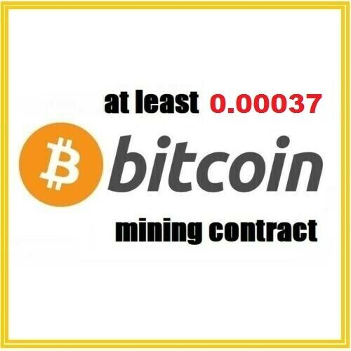 at least 0.00037 Bitcoin (BTC) 2 hour Cryptocurrency mining contract