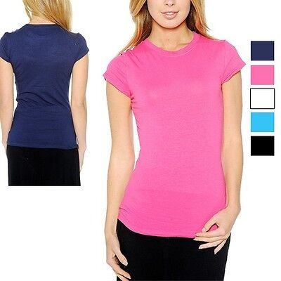 5 Pack: Grip Ladies' Crew-Neck Cotton T-Shirts in Assorted Colors