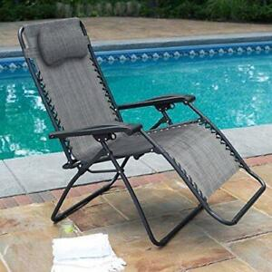 NEW ZERO GRAVITY BEACH CHAIR PATIO CHAIR BEACH RECLINER
