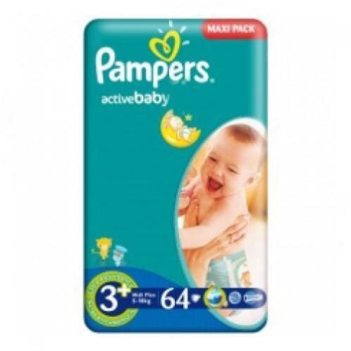 7f062e48cc7 ≥ Pampers aanbieding Active Baby Maat 3+ 64 Luiers - Overige ...