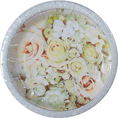 Wedding Cake Paper Plates (WEDDING AND BRIDAL Roses SMALL PAPER PLATES (8) ~ Party Supplies Cake)